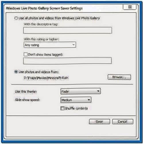Windows 7 Screensaver Play Video
