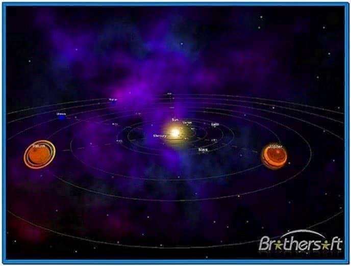Windows 7 Screensaver Solar System