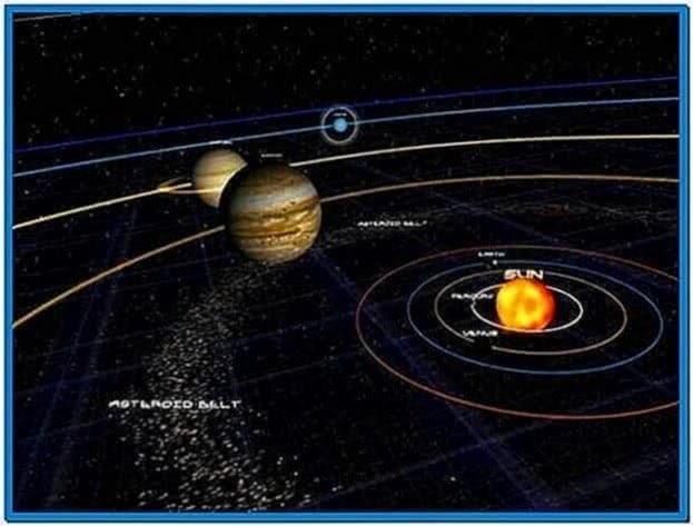 Windows 7 Screensaver Solar System