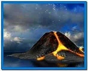 Windows 7 Screensaver Volcano