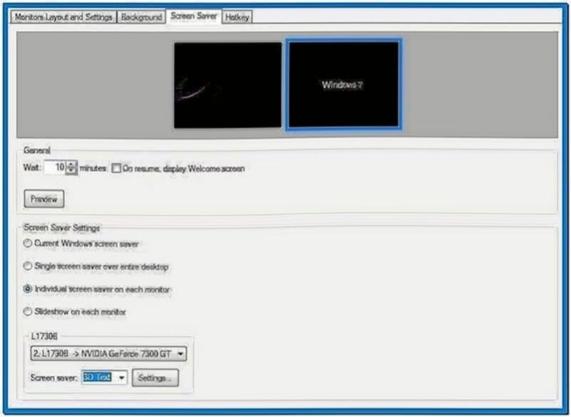 Windows 7 Slideshow Screensaver Dual Monitor