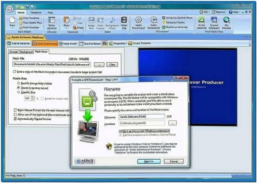 Windows 7 Slideshow Screensaver Fade