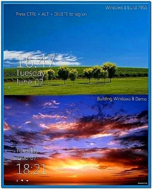 Windows 8 Clock Logon Screensaver Windows 7