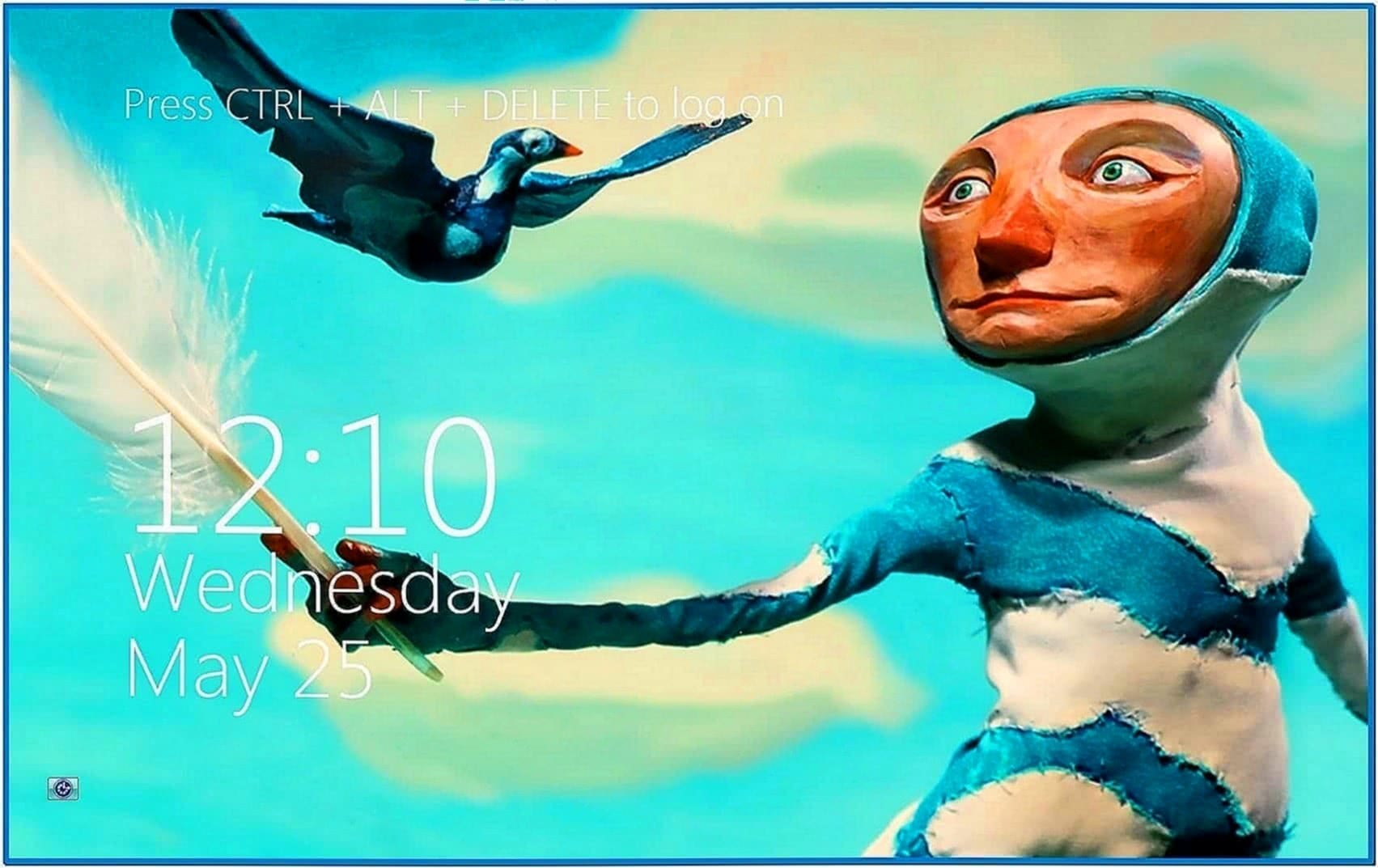 Windows 8 Metro Clock Screensaver