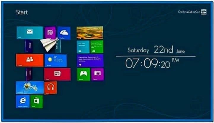 Windows 8 Metro Clock Screensaver