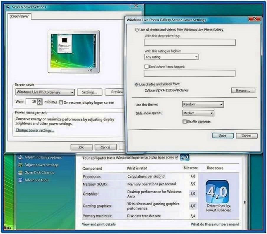 Windows live photo gallery screensaver themes - Download free