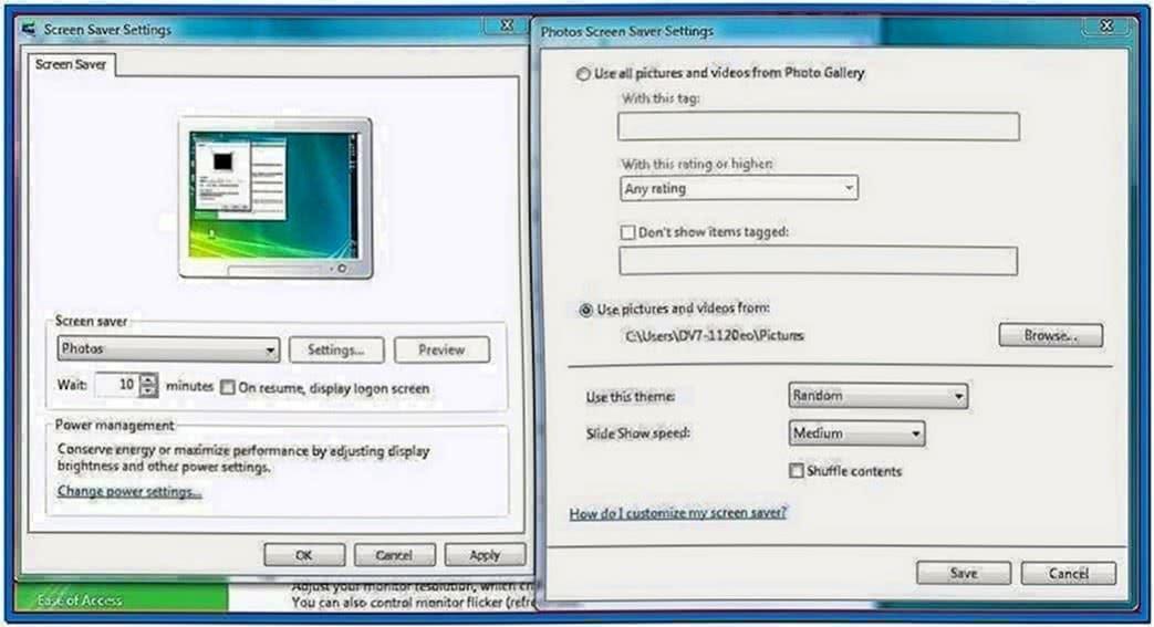 Windows Live Photo Gallery Screensaver Themes
