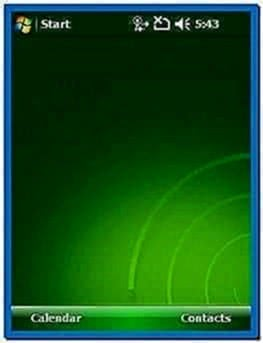 Windows Mobile 6.1 Clock Screensaver