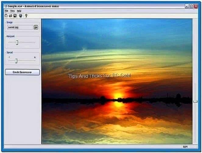 Windows screensaver creation