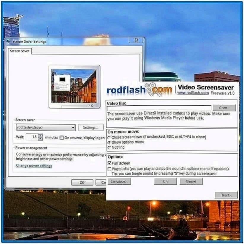 Windows Screensaver Video