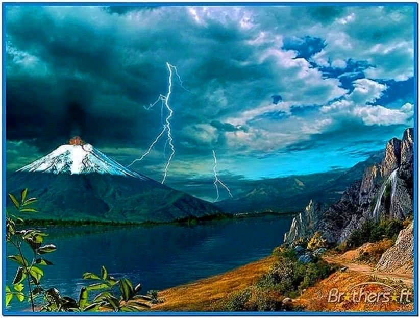 Windows Screensaver Volcano