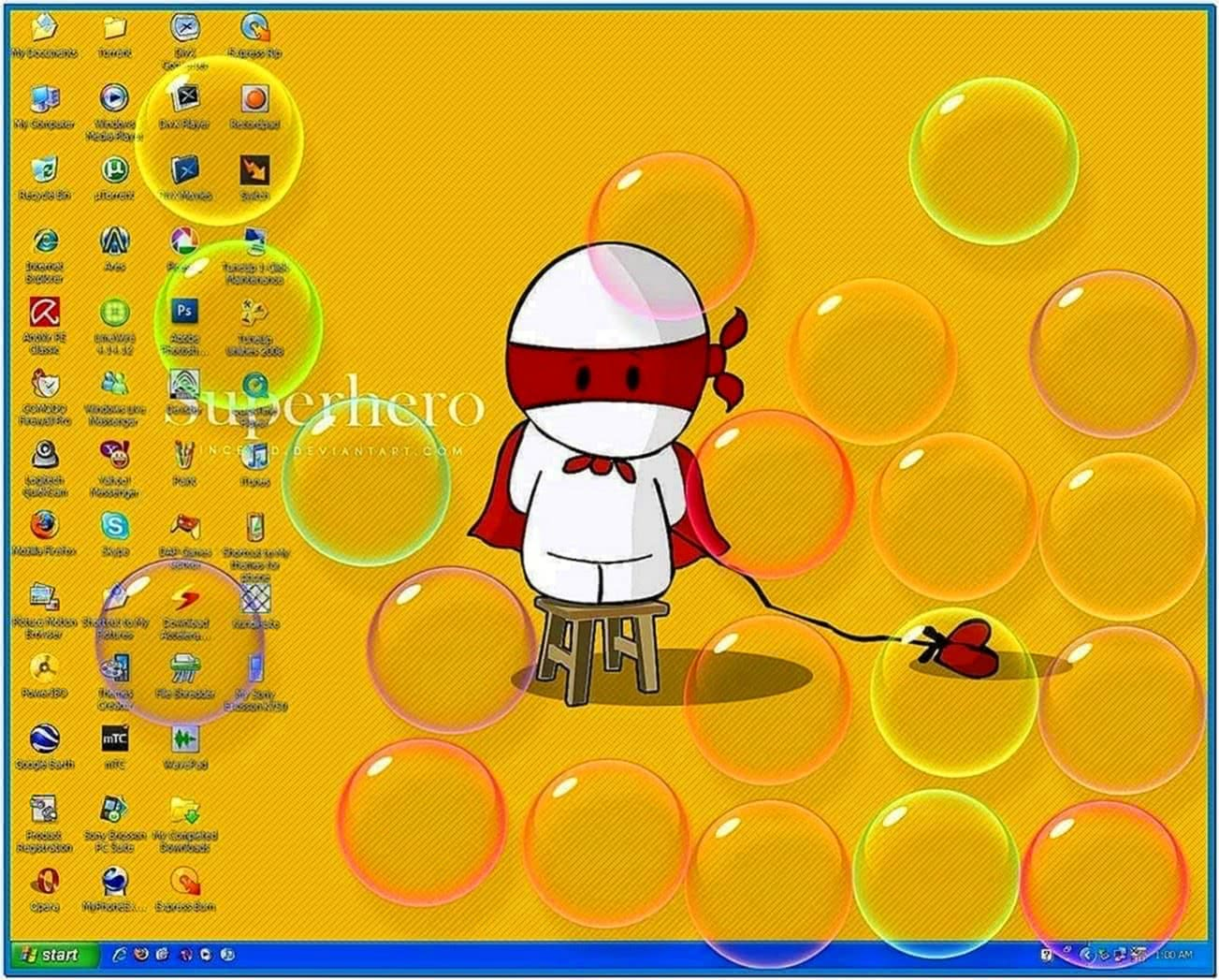 Windows Vista Bubble Screensaver XP