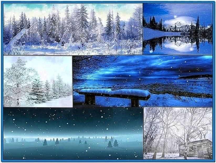 Windows Vista Snow Screensaver