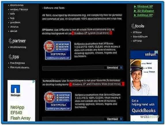 Windows xp use video as screensaver