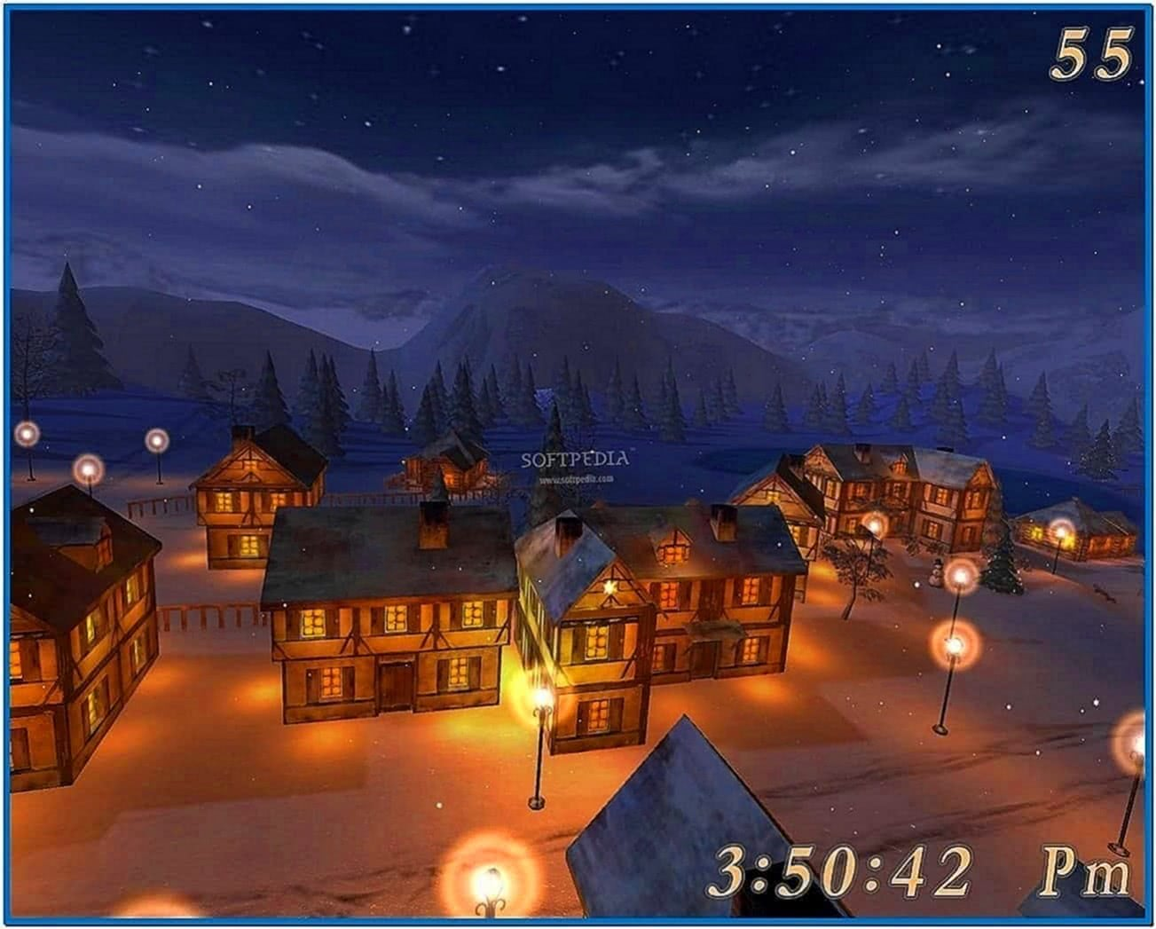 Winter Night 3D Screensaver