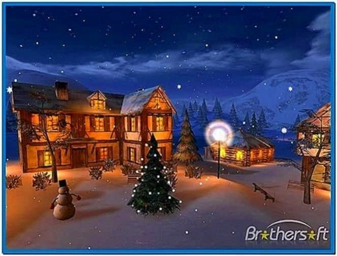 Winter Night 3D Screensaver Windows 7