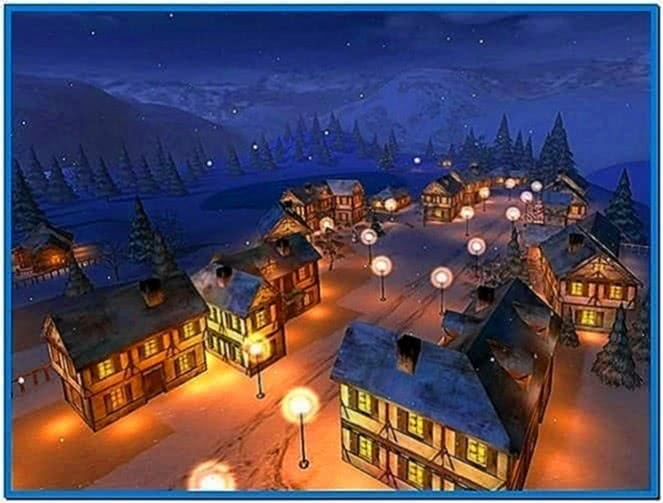 Winter Night 3D Screensaver Windows 7