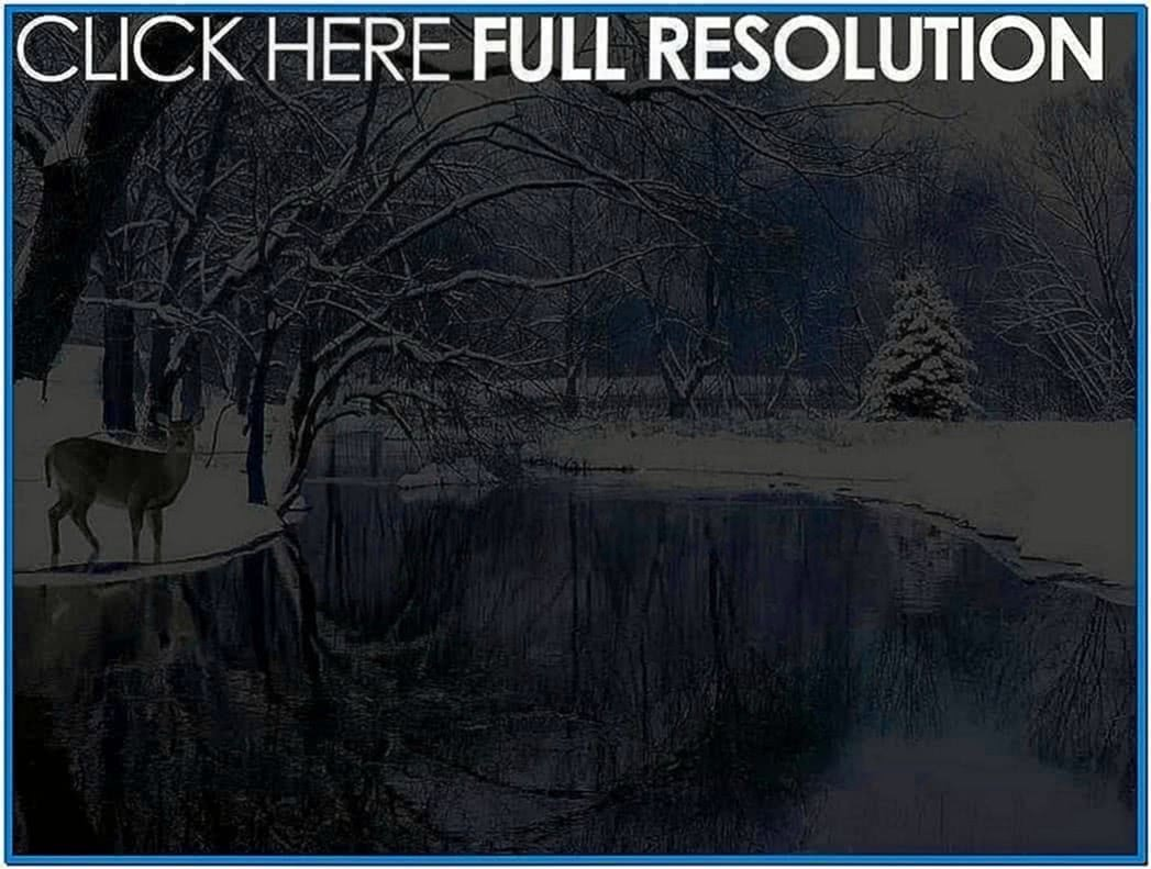 Winter Scene Screensaver