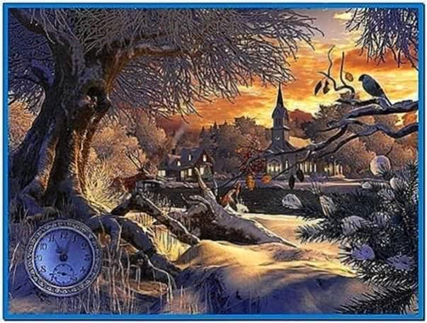 Winter Scene Screensaver Mac