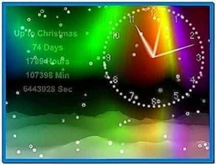 Winter Screensaver Clock