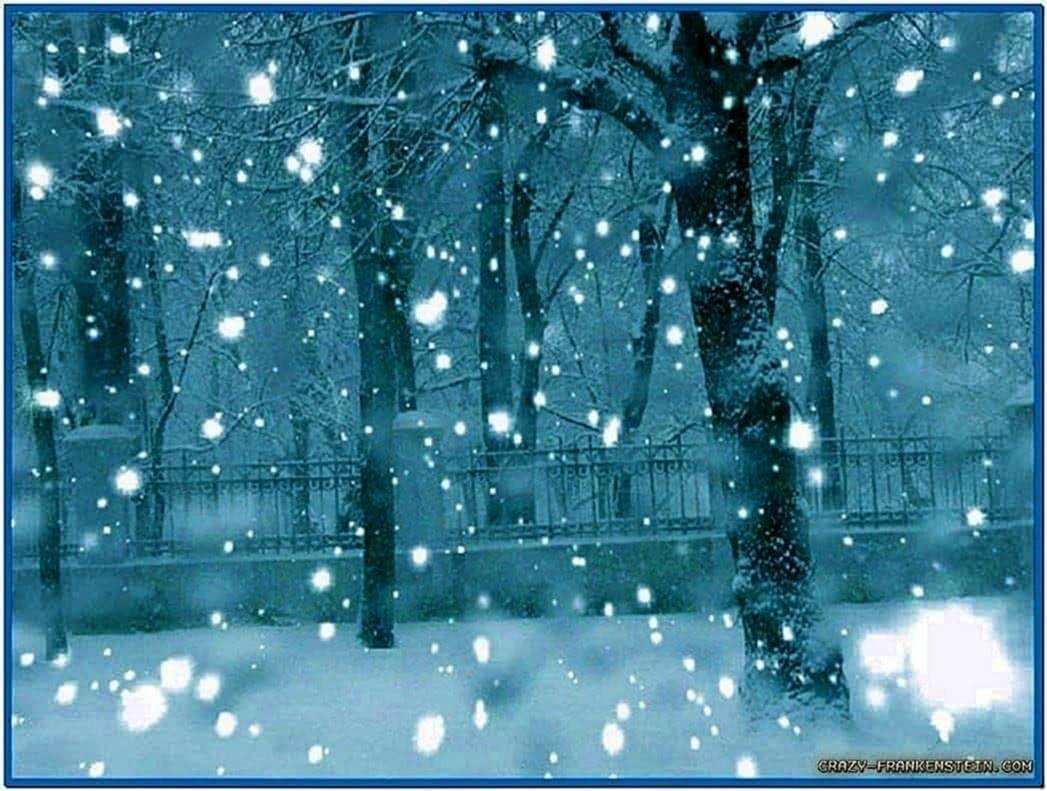 Winter Screensaver Falling Snow