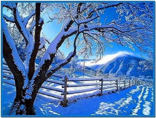 Winter screensaver images
