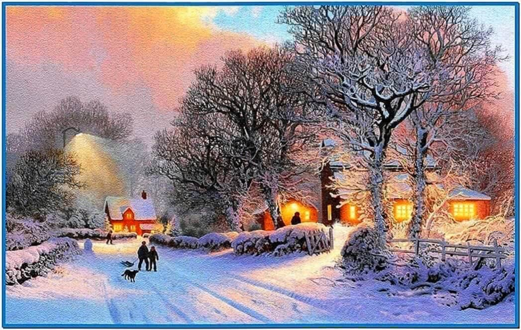 Winter screensavers animated winter - Download free