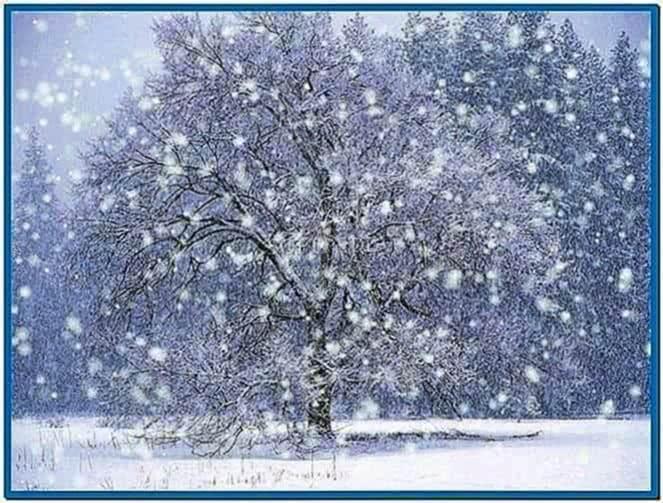 Winter snow screensaver