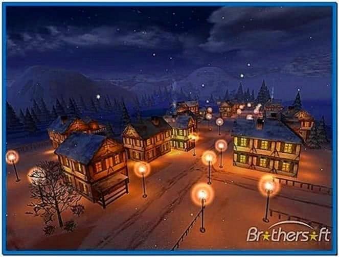 Winter town 3D screensaver 1.0