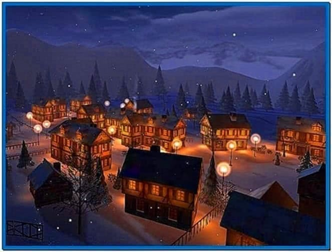 Winter Town 3D Screensaver 1.0