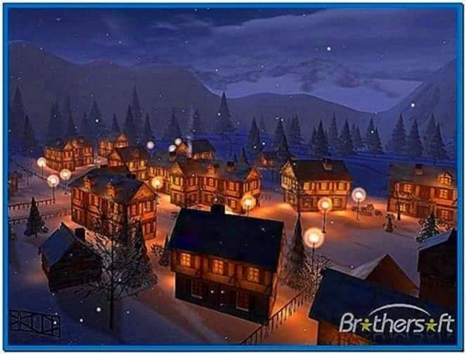 Winter town 3D screensaver