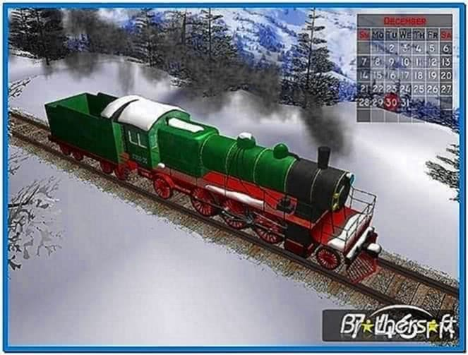 Winter Train 3D Screensaver 1.2.0