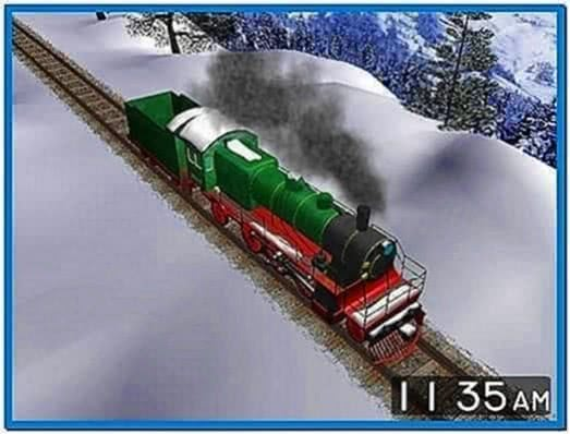 Winter Train 3D Screensaver