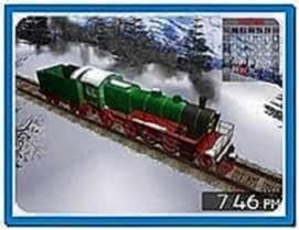 Winter Train 3D Screensaver Windows 7