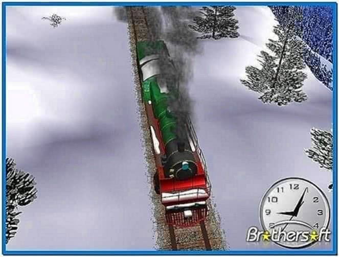 Winter Train Screensaver Mac