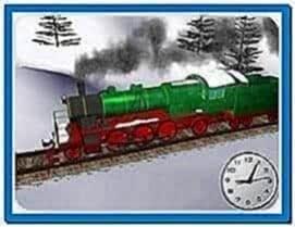 Winter Train Screensaver Mac