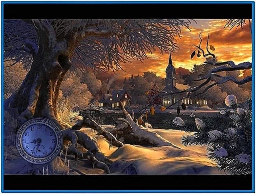Winter Wonderland 3D Screensaver and Animated Wallpaper