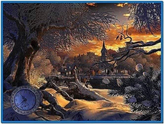 Winter wonderland 3D screensaver