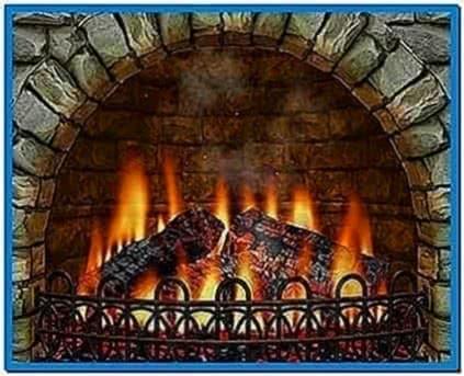 Wood Burning Fireplace Screensaver