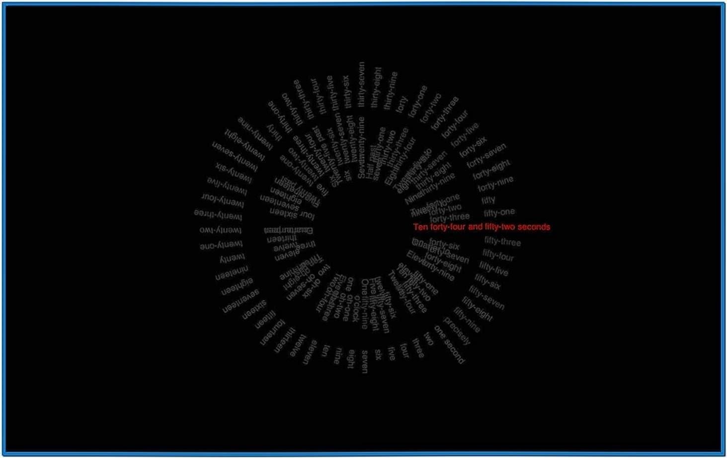 Word Clock Screensaver Linux