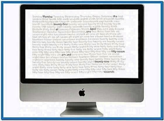 Word Clock Screensaver Windows 7