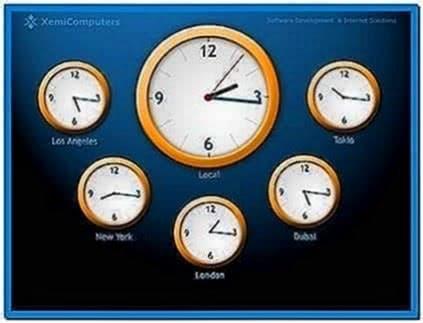 World Clock Screensaver 1.0