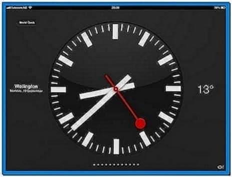 World Clock Screensaver for iPad