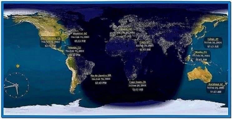 World Clock Screensaver Freeware