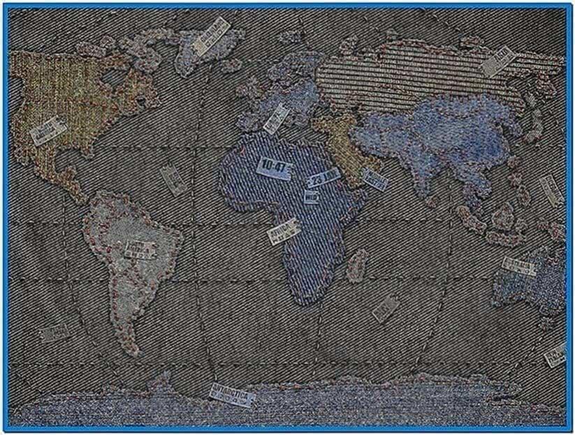 World clock screensaver Linux