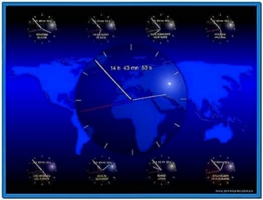 World Clock Screensaver Windows 7