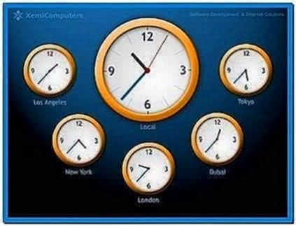 World Clock Screensaver Windows Vista