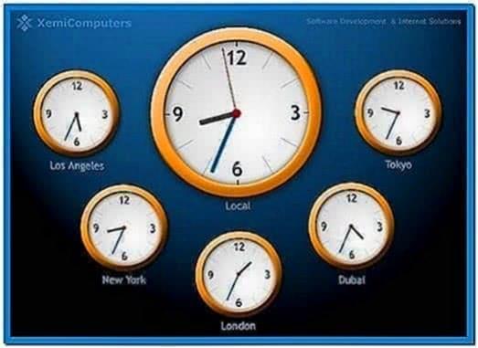 World Clock Screensaver Windows XP