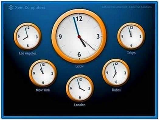 World Clock Screensavers Mac