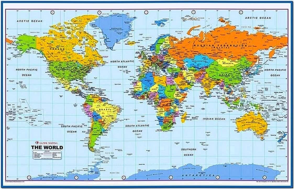 World Maps Screensaver